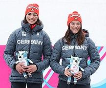 2020-01-18 Mascot Ceremony Luge Women's Double (2020 Winter Youth Olympics) by Sandro Halank–067.jpg