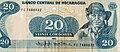 20 Córdoba Banknote Nicaragua 1985 Vorderseite Konterfei Comandante Germán Pomares Ordonez.jpg