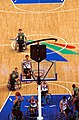 211000 - Wheelchair basketball Australia vs Japan from above - 3b - 2000 Sydney match photo.jpg
