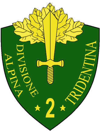 2nd Alpine Division Tridentina - Coat of Arms of the 2nd Alpine Division Tridentina