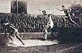 3000 mètres steeple aux JO 1924, le futur vainqueur Ville Ritola en tête, troisième le futur médaillé de bronze Paul Bontemps.jpg