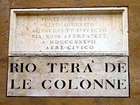 3892 - Venezia - Lapide per lavori 1837 - Foto Giovanni Dall'Orto, 10-Dec-2007a.jpg