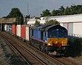 66 414 Freightliner (Ex-Stobart Rail) 4O29 Trafford Park-Southampton at Lockhurst Lane, Coventry.jpg