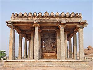 Hampi - Sasivekalu Ganesha monument
