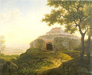 Wirtemberg Castle - Wirtemberg Castle before 1819 (painting by Franz Xaver Odo Müller)