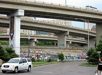 Quebec Autoroute 440 (Quebec City) - West end of Autoroute Dufferin-Montmorency