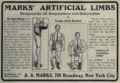 "A. A. Marks (""American medical directory"", 1906 advert).png"