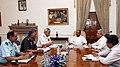 A. K. Antony chairing a meeting of Three Service Chiefs Admiral Nirmal Verma, General V.K. Singh, Air Chief Marshal N.A.K. Browne and the Defence Secretary, Shri Shashikant Sharma, in New Delhi on May 28, 2012.jpg