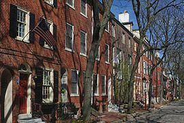 A359, Philadelphia, Pennsylvania, USA, Delancey Street in Society Hill, 2009.JPG