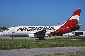 Líneas Aéreas Privadas Argentinas - Boeing 737-200 LV-YXB in ARG livery