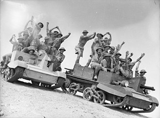 2/6th Battalion (Australia) - Soldiers from the 2/6th on Bren Carriers in Egypt, October 1940.