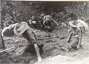Battle of the Hongorai River - Image: AWM 092293 Australian Engineers at Honogai River 1945
