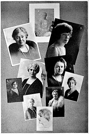 Gertrude Atherton - Mariana Bertola, Carrie Jacobs-Bond, May Showler Groves, Minna McGauley, Maud Wilde, Jeanette Lawrence, Miriam Van Waters, Mrs. David Starr Jordan, Annie Florence Brown, Gertrude Atherton