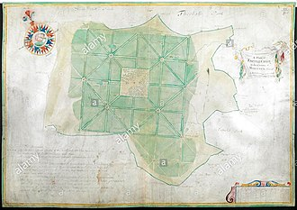 Enfield Chase - A Plan of Enfield Chase in the County of Middlesex Survey'd by Joel Gascoign, by the order and advice of H. Westlake. Esqr. Survr. A scale of 10 furlongs. 1700.