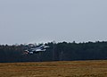A U.S. Air Force F-16 Fighting Falcon aircraft assigned to the 555th Fighter Squadron takes off from Lask Air Base, Poland, for a training mission March 18, 2014 140318-F-BH566-510.jpg