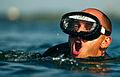 A U.S. Air Force pararescue trainee participates in a swimming exercise at Calaveras Lake in San Antonio, Texas, Aug. 17, 2011 110817-F-RH756-357.jpg