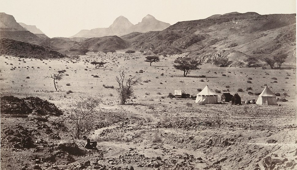 A camping-place in the wilderness of Sinai