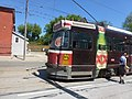 A disabled ALRV is about to be towed back to the garage for service, 2014 06 07 (1).JPG