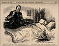 A doctor takes the temperature of a gloomy patient. Reproduc Wellcome V0011504.jpg