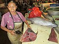 A fish seller in Denpasar market..JPG