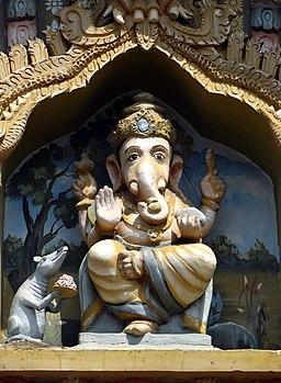 A ganesha sculpure in kandarmadam ganesha temple