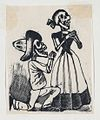 A male skeleton on his knees before a female skeleton (vignette for the feast of the dead) MET DP867977.jpg