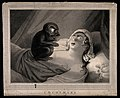 A perturbed young woman fast asleep Wellcome V0016638.jpg