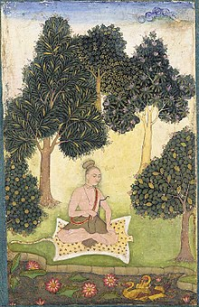 A yogi seated in a garden.jpg