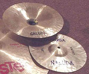 "Splash cymbal - Saluda Voodoo 12"" china and 10"" china splash, against a Paiste 20"" china"