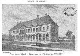 L'anchien logis abacial in 1878