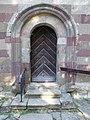 Abbey church, simple Romanesque door in Bélapátfalva, 2016 Hungary.jpg