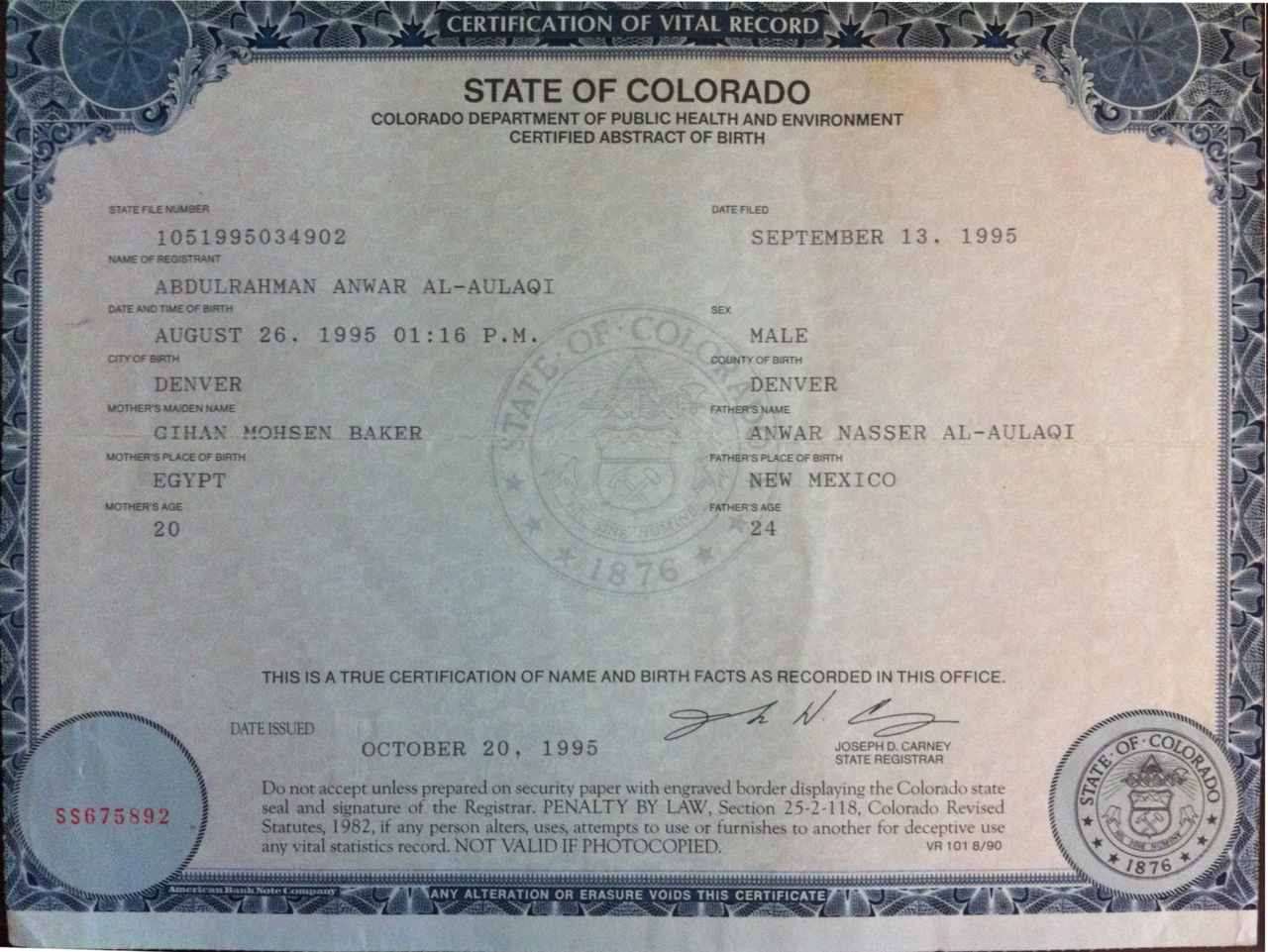 Birth Certificate Denver Colorado Free Resume 2018 Free Resume