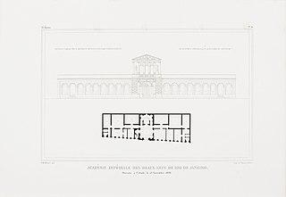 Académie Impériale des Beaux Arts - de Rio de Janeiro. Ouverte à l´étude le 15 Novembre 1826