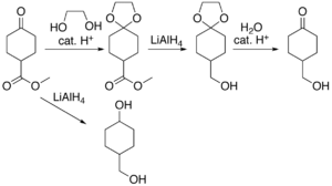 Dioxolane - Image: Acetal protection example