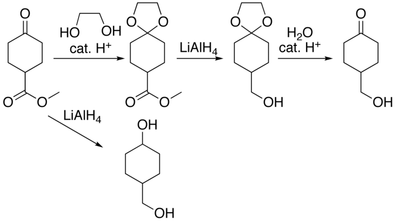 Dioxolane Acetal Ring Cleavage