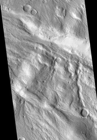 Acheron Fossae - Image: Acheron Fossae Crater