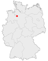 Achim on the map of Germany.png