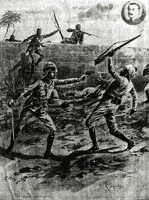Charles James William Grant - Image: Action by Lt CJW Grant, VC, 1891