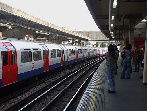 Acton Town stn westbound Piccadilly look east