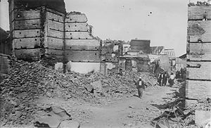 Rose Lambert - A street in the Christian quarter of Adana after the massacres (photographed in June 1909)