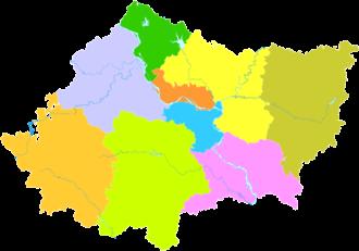 Xiangyang - Image: Administrative Division Xiangyang