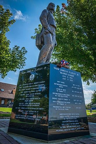 James H. Flatley - Statue of Flatley in Admiral Flatley Park in Green Bay