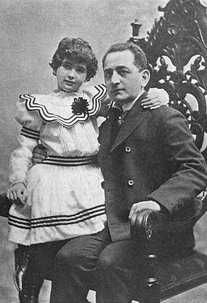 Adolph Ochs - Ochs and his daughter, Iphigene, c. 1902