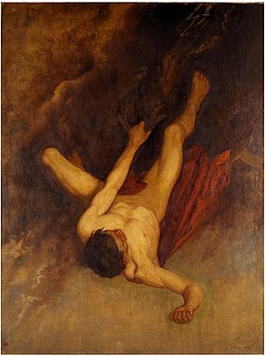 Phaethon - The fall of Phaethon by Adolphe Pierre Sunaert