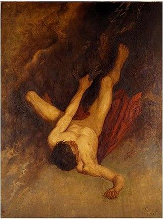 Phaethon - The fall of Phaethon by Adolphe Pierre Sunaert