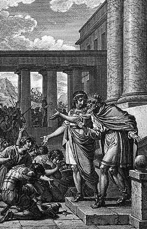 Aeacus - Aeacus and Telamon by Jean-Michel Moreau le Jeune.