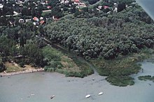 Aerial photograph of the Fűzfőiséd estuary, Balatonfűzfő.jpg