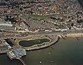 Aerial view of Southend seafront, base of Southend pier - geograph.org.uk - 1723523.jpg