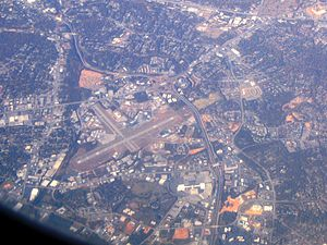 Greenville Downtown Airport - Image: Aerial view of the Greenville Downtown Airport