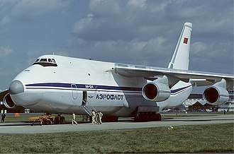 1997 Irkutsk Antonov An-124 crash - The crashed aircraft in 1986